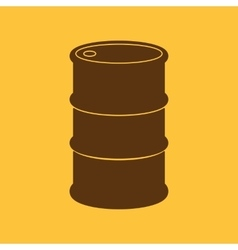 The barrel icon vector