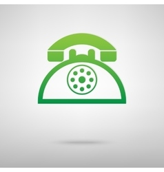 Retro telephone green icon vector