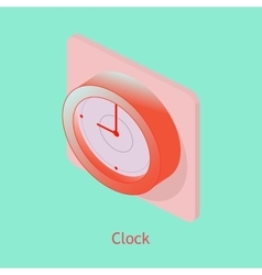 Wall clock isometric vector