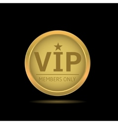 Golden vip label vector