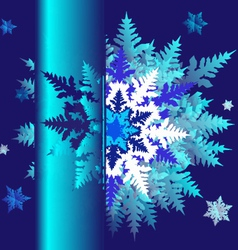 abstract design with snowflakes and space for text vector image vector image