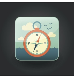 App icons compass vector