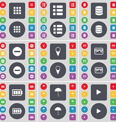 Apps List Database Minus Checkpoint Credit card vector image