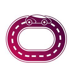 Autonomous car smart on the road navigation vector