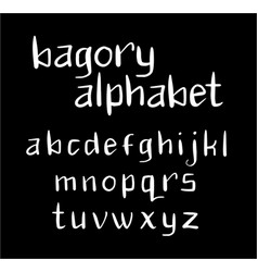 Bagory alphabet typography vector