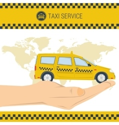 banner taxi service vector image vector image