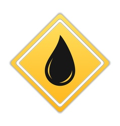 Black oil drop icon vector