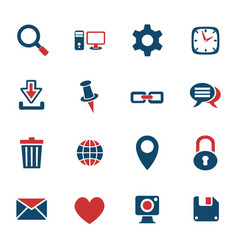 blog icon set vector image