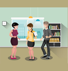 business people teamwork vector image vector image