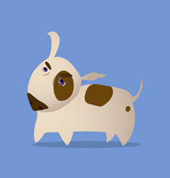 cartoon of bull terrier dog vector image vector image