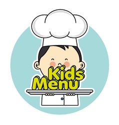 Chef children vector