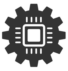 Chip development gear flat icon vector