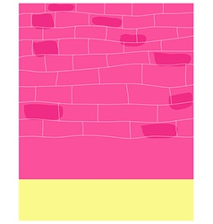 City street wall pattern vector