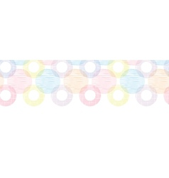 Colorful textile circles horizontal seamless vector image vector image