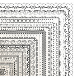 decorative borders for your design vector image vector image