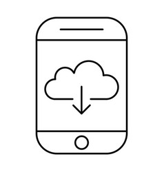 downloading from cloud storage using smartphone vector image