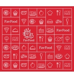Favorite food delivery abstract logo vector