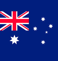 Flag australia flat style vector