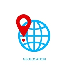 Geolocation icon vector image