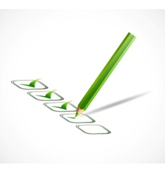 Green check list vector image