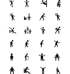 Human icons 13 vector