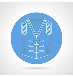 Life jacket blue icon vector