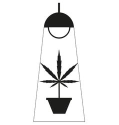 Marijuana grow box vector