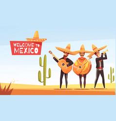 Mexican musicians vector
