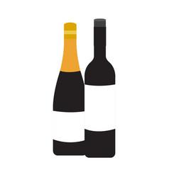 Pair of wine bottles vector