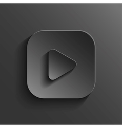 Play icon - media player icon - black app button vector image