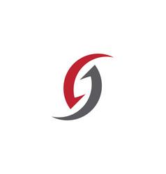 s letter logo template design vector image
