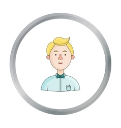 Scientist icon in cartoon style isolated on white vector image