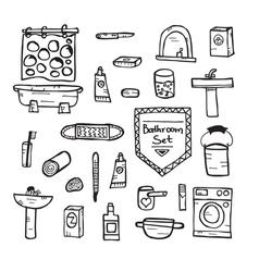 Set of bathroom equipment vector image vector image