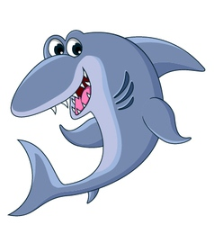 shark cartoon smiling vector image vector image