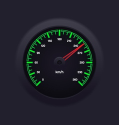 Speedometer green vector