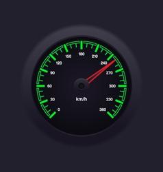 Speedometer green vector