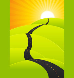 summer travel - long road journey vector image vector image