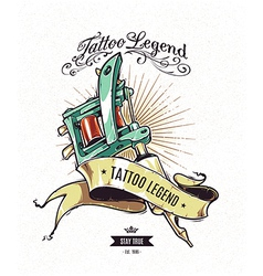 Tattoo Legend 2 vector image vector image