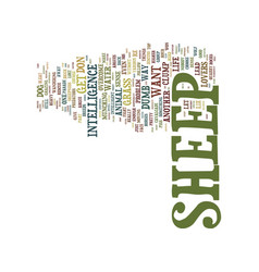 The problem with sheep text background word cloud vector