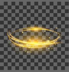 Transparent light effect yellow lightning flafe vector