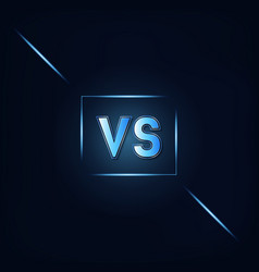 Vs dark blue background vector