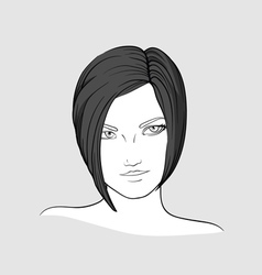Portrait of brunette girl vector