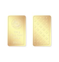 100g minted gold bar vector