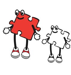 Cartoon character of puzzle vector image