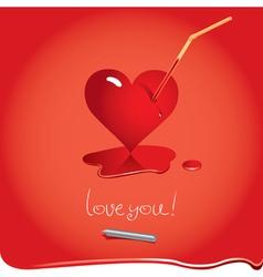 heart juice vector image