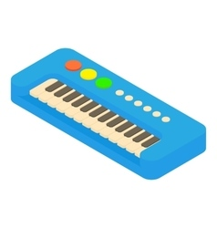 Synthesizer toy icon cartoon style vector