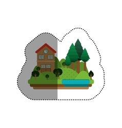 Isolated house design vector