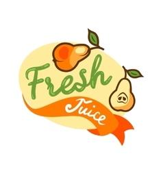 fresh juice emblem 2 vector image