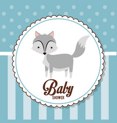 Baby shower card invitation funny decorative vector