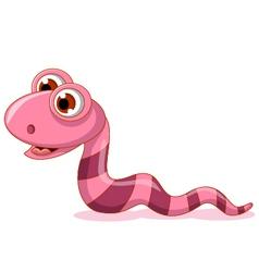 cute little worm cartoon vector image